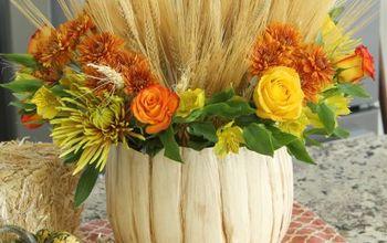 Rustic Pumpkin Vase for Halloween, Fall, Thanksgiving, or Autumn