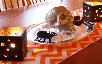 pierce wood candle holders for halloween, crafts, halloween decorations, seasonal holiday decor