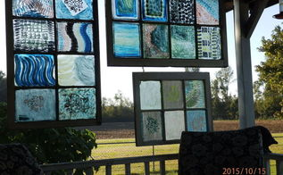 porch screen from painted windows, crafts, diy, outdoor living, porches