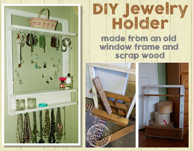 repurposed jewelry organizer made from an old window shelf, crafts, organizing, repurposing upcycling, wall decor