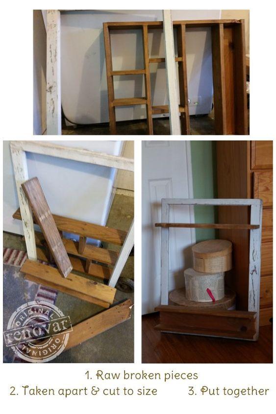 Repurposed Jewelry Organizer - Made From an Old Window & Shelf ...