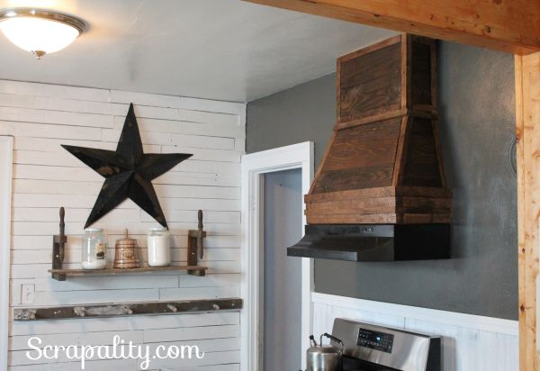 Rustic Style Kitchen Hood Using Pallet Wood | Hometalk on