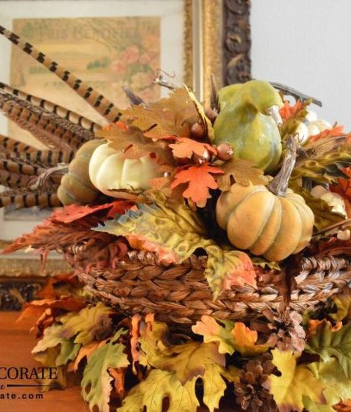 how to create a fall arrangement, how to, seasonal holiday decor