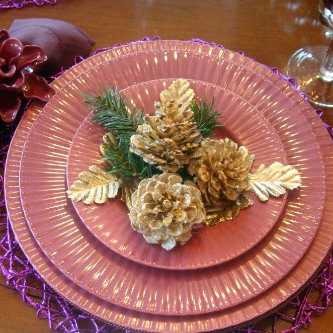 s 13 reasons to rush outside and collect an armful of pine cones, christmas decorations, crafts, repurposing upcycling, seasonal holiday decor, Glittering Centerpiece