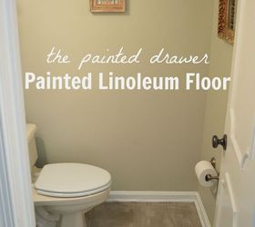How To Create The Look Of A Stone Floor Out Of Old Linoleum, Bathroom Ideas