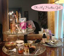 up cycled makeup tray, crafts, repurposing upcycling
