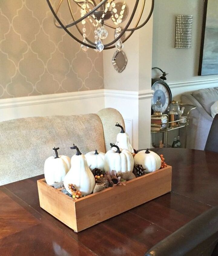 cd tower turned fall centerpiece upcycle 30dayflip, repurposing upcycling, seasonal holiday decor