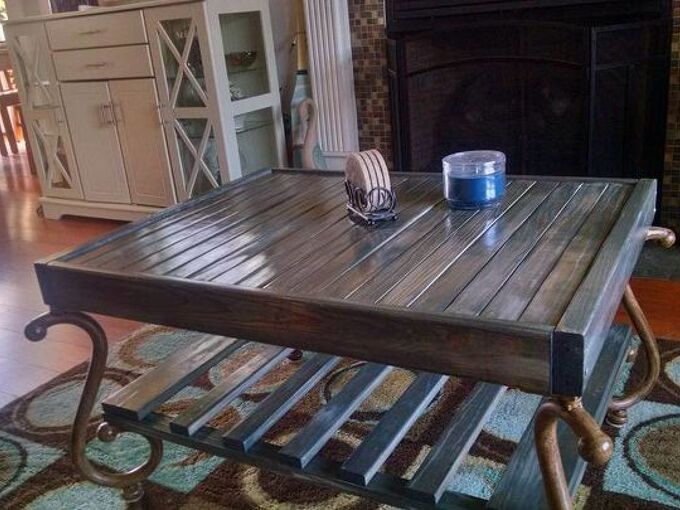 from futon to coffee table, painted furniture