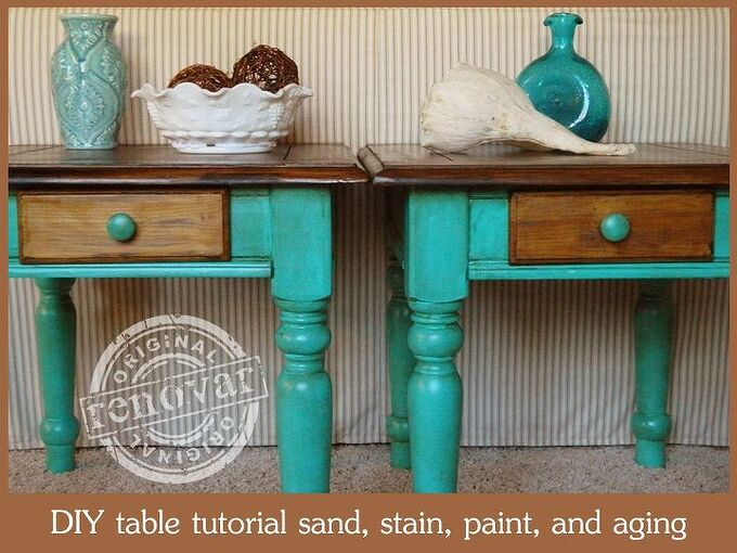 how to strip sand paint stain and age furniture part 1, how to, painted furniture