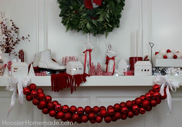 diy ornament garland christmas decorations seasonal holiday decor