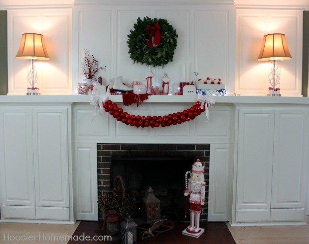 diy ornament garland, christmas decorations, seasonal holiday decor