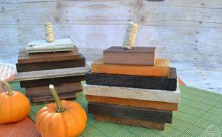 scrap wood pumpkins, crafts, home decor, pallet, repurposing upcycling, seasonal holiday decor