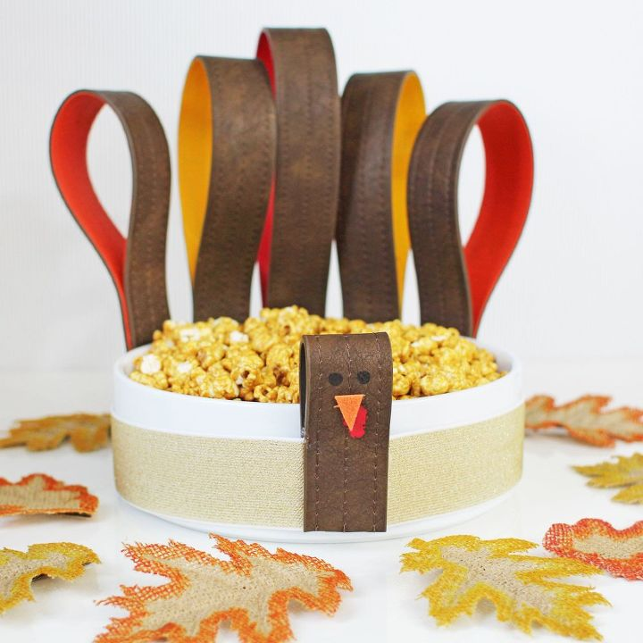 serving bowl becomes a thanksgiving turkey, crafts, how to, repurposing upcycling, thanksgiving decorations