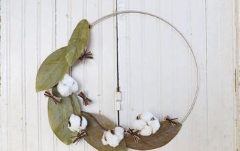 Magnolia and Cotton Fall Wreath