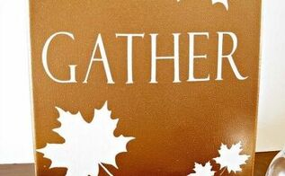 metallic fall canvas, crafts, seasonal holiday decor