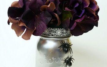 Spooky Halloween Mason Jar Vase
