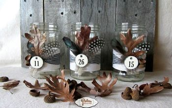 Nature Inspired Decorated Jars for Fall