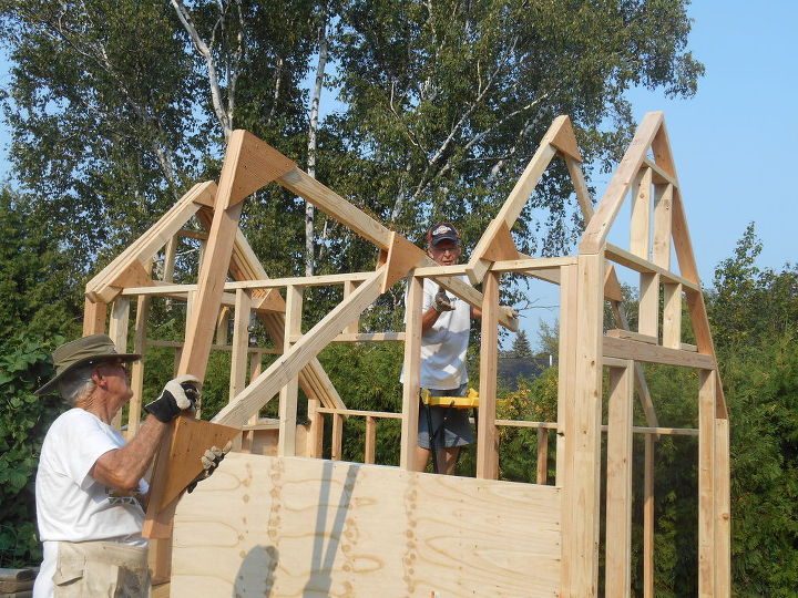 Finally the trusses.