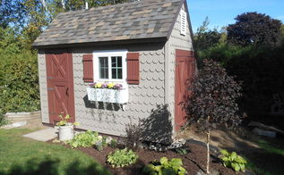 the cutest potting shed ever, diy, gardening, home improvement, outdoor living, woodworking projects, Finished