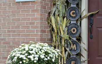 DIY Welcome Sign & Fall Front Porch Reveal