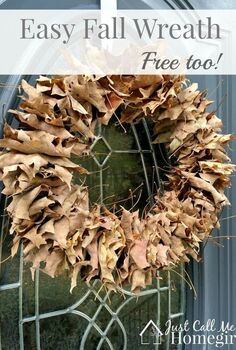 easy fall leaf wreath and free, crafts, wreaths