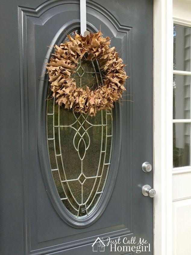easy fall leaf wreath and free, crafts, wreaths