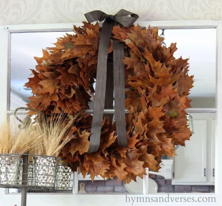 easy real oak leaf wreath hometalk