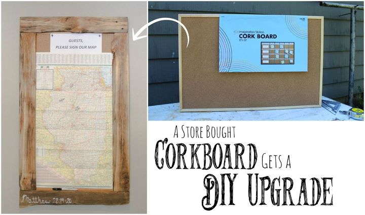 store bought corkboard gets diy upgrade, crafts, how to, pallet, repurposing upcycling, woodworking projects