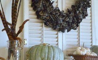 super easy plaid wreath for fall, crafts, seasonal holiday decor, wreaths