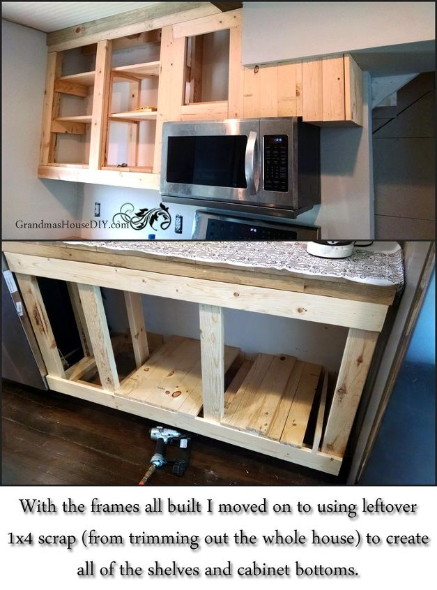 how i built all of our kitchen cabinets, closet, diy, how to, kitchen cabinets, kitchen design