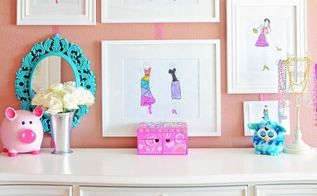 little girl s gallery wall, crafts, wall decor