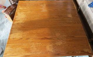 q oak table discolorations, furniture cleaning, furniture refurbishing, painted furniture