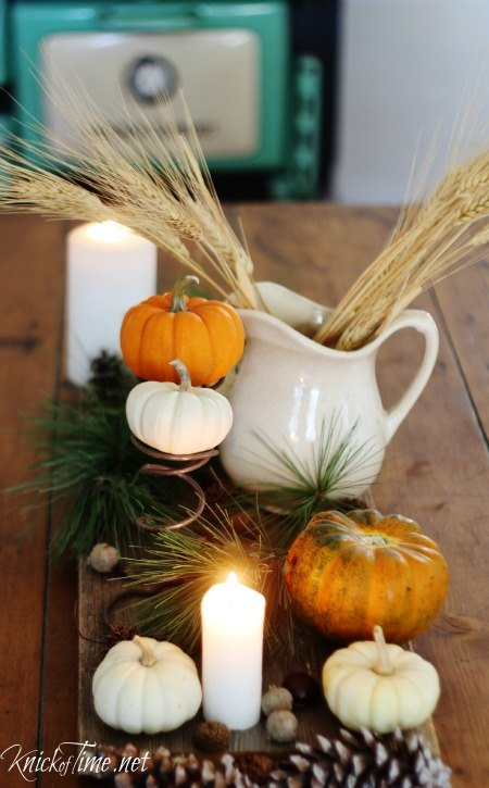 rustic autumn table centerpiece that didn t cost a dime homeforfall, repurposing upcycling, seasonal holiday decor