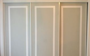 painted sliding closet doors faux trim effect, closet, painting