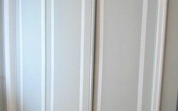How to Paint Faux Trim on Closet Doors
