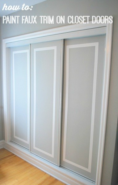 How to paint faux trim on closet doors hometalk for How to paint trim