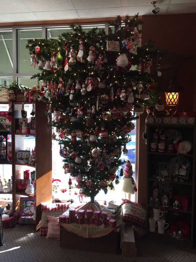 q can you turn a regular artificial tree into a upside down one, christmas decorations, how to, seasonal holiday decor, Here s what they look like so cool