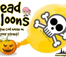 dead balloons, crafts, halloween decorations
