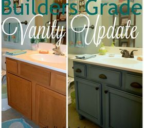 Lovely Builders Grade Teal Bathroom Vanity Upgrade For Only 60, Bathroom Ideas,  Chalk Paint,