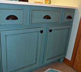 Nice Chalk Paint Bathroom Cabinets Part - 9: Builders Grade Teal Bathroom Vanity Upgrade For Only 60, Bathroom Ideas, Chalk  Paint,