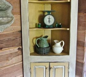 Yellow Farmhouse Cabinet Furniture Refresh Blog Hop, Painted Furniture