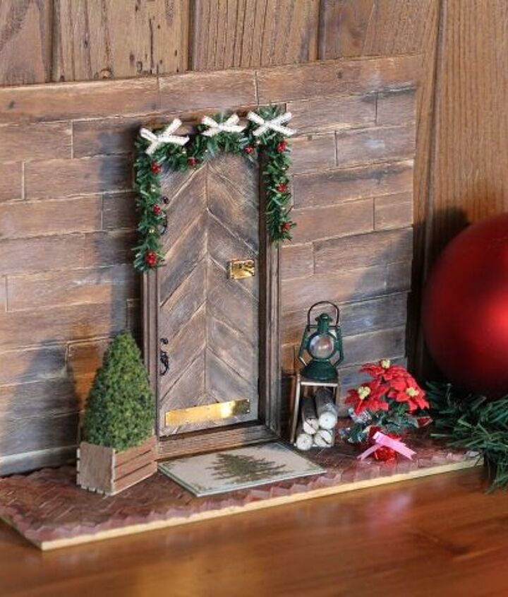 Rustic Elf Door for visiting elves