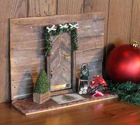 holiday elf door christmas decorations crafts seasonal holiday decor Rustic Elf Door & Holiday Elf Door   Hometalk