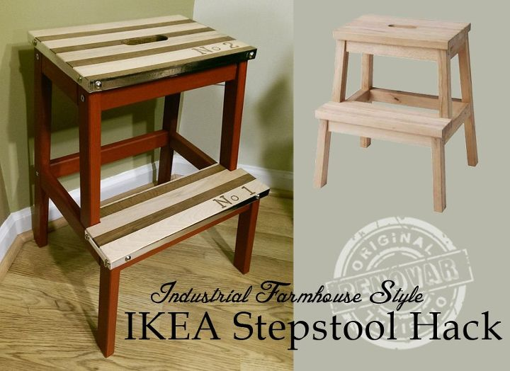 diy ikea hack project farmhouse style stool, diy, how to, painted furniture, woodworking projects