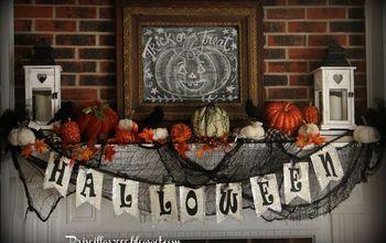 Halloween on the Mantel