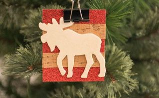 diy moose ornament or gift tag, christmas decorations, crafts, home decor, seasonal holiday decor