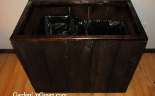 diy trash box, cleaning tips, diy, woodworking projects