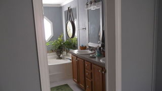 , We used the same look in the attached Master bath
