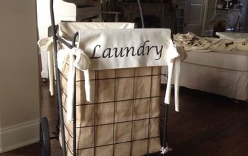 diy granny shopping cart laundry hamper, crafts, repurposing upcycling