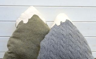upcycle your old sweaters into some cute mountain pillows, crafts, repurposing upcycling